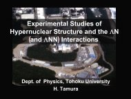 a ( ) - Nuclear Physics Experiment Group, University of Tokyo