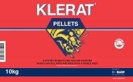 Klerat Pellets 10kg Label - Pest Control Management