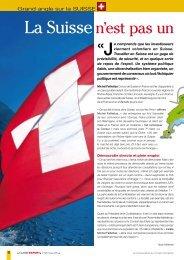Classe Export - La Suisse n'est - Développement Économique du ...
