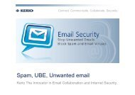 Spam, UBE, Unwanted email