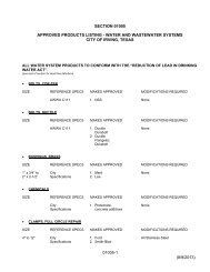 Approved Products List - City of Irving, Texas