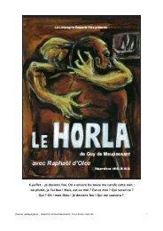 dossier pedagogique Le Horla - Compagnie Maya