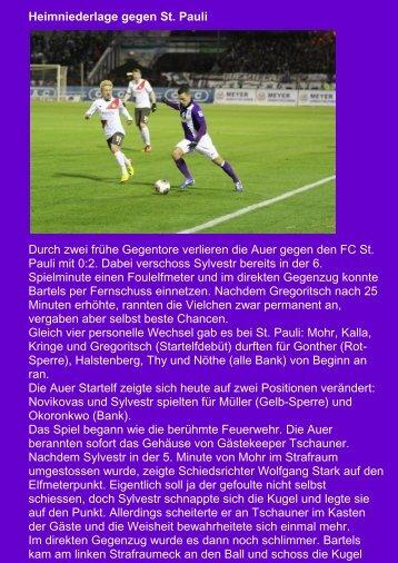 Heimniederlage gegen St. Pauli Durch zwei frühe ... - veb-aue.de