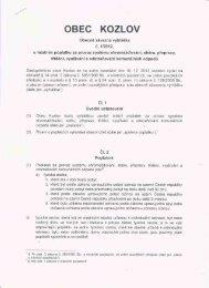 Obecně závazná vyhláška 1 - Kozlov