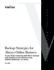 Backup Strategies for Always-Online Business - Eval.veritas.com
