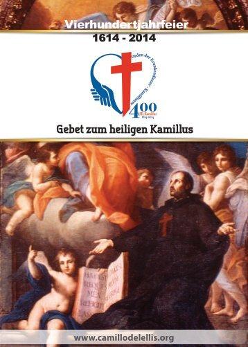 Gebet zum heiligen Kamillus Vierhundertjahrfeier - Camilliani