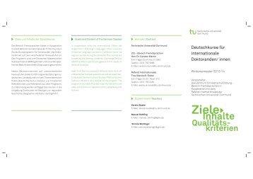 Informationsflyer - im zhb - TU Dortmund