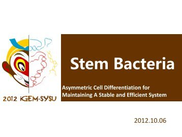 SYSU-China Presentation - iGEM 2012