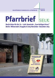 Pfarrbrief November-Dezember - Zum Heiligen Kreuz