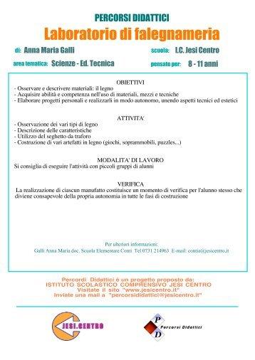 Laboratorio di falegnameria - Istituto Scolastico Comprensivo ...