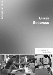 7. Arbeiten mit der Ecopress - Grass