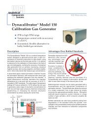 Dynacalibrator® Model 150 Calibration Gas Generator ... - Interchim