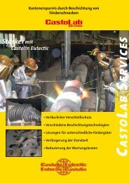 CastoLab Services® Förderschnecken - Castolin Eutectic