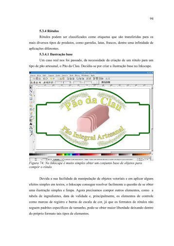 94 5.3.4 Rótulos Rótulos podem ser classificados como etiquetas ...