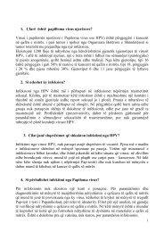 Virusi i papilomës njerëzore ( Papiloma virus ose HPV) - EpiCentro