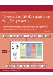 10 years of mobile data acquisition with ... - Siempelkamp NIS