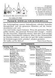 Pfarrblatt Nr. 34/35/36 vom 14.08. bis 05.09.2010 (€ 0,30)