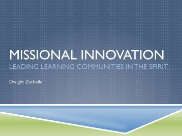 MISSIONAL INNOVATION - The Episcopal Church in Minnesota