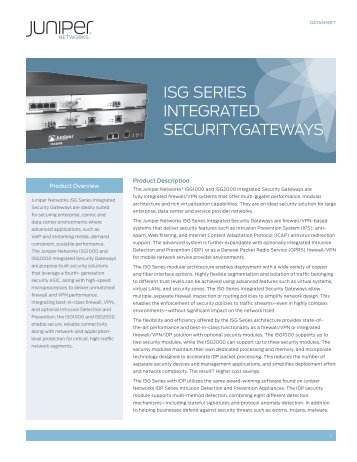 ISG Series Integrated Security Gateways - Starnet Data Design, Inc