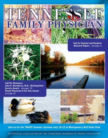 Spring 2009 Issue - Tennessee Academy of Family Physicians