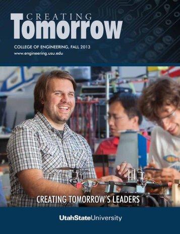 creating tomorrow's leaders - College of Engineering - Utah State ...