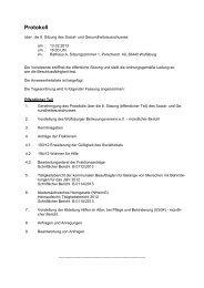 Protokoll der entsprechenden Sitzung des Sozialausschusses