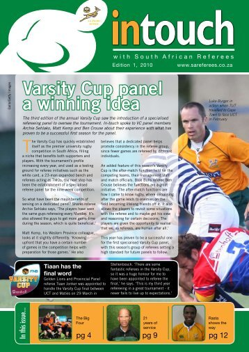 Intouch Edition 1, 2010 - SA Rugby Referees