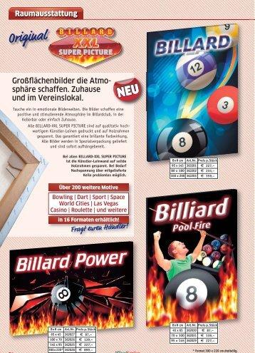Original Billard&Kicker Scene XXL Super Picture auf ... - Billard Scene