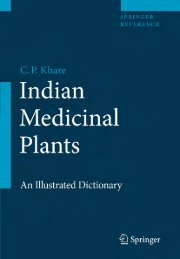 Indian Medicinal Plants An Illustrated Dictionary