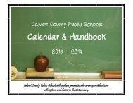 Calendar & Handbook - Calvert County Public Schools