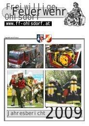 Jahresbericht 2009 - Freiwillige Feuerwehr Ohlsdorf