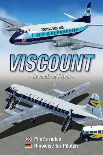 Pilot's notes Hinweise für Piloten - Just Flight and Just Trains