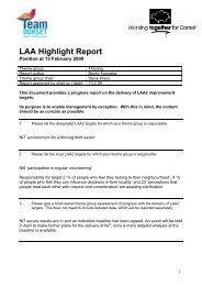 LAA Highlight Report - Dorsetforyou.com