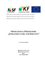 "operational programme ""infrastructure and services"" - ES fondi"