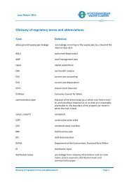 Glossary of regulatory terms and abbreviations