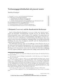 Verfassungsgerichtsbarkeit als pouvoir neutre - Zeitschrift für ...