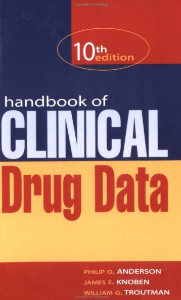 Handbook of clinical drug data.pdf - Me and My Life