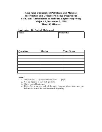 PDF - KFUPM Open Courseware - King Fahd University of ...