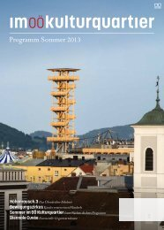 Programm Sommer 2013 - Im OÖ Kulturquartier