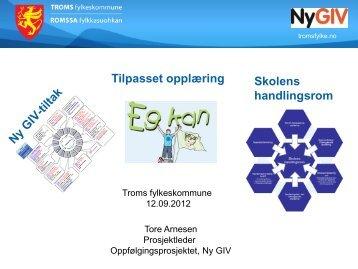 Ny Giv og tilpassa opplæring v - Troms fylkeskommune
