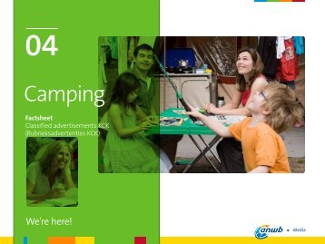 Camping Factsheet Classified advertisments KCK - ANWB Media