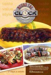 Regular Menu - Round The Clock Restaurant
