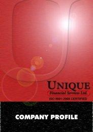 Company Profile - Unique Financial Services Ltd