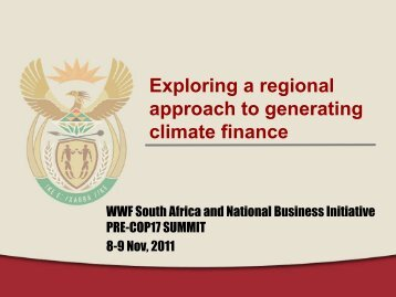 Exploring a regional approach to generating ... - WWF South Africa