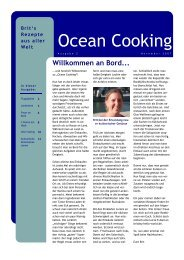 Ocean Cooking Ausgabe 2 - SY Hello World