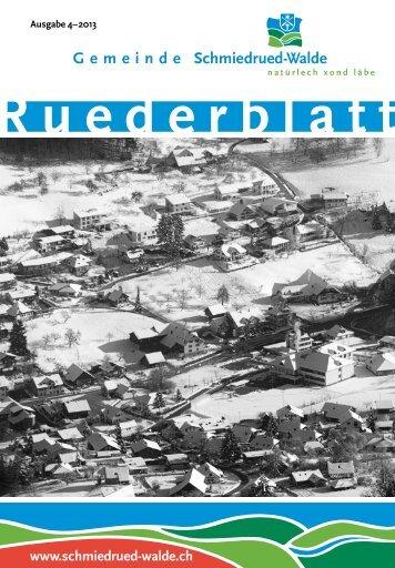 Ruederblatt – 4. Ausgabe 2013 im Dezember - Gemeinde ...