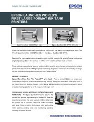 Epson Launches World's 1st Large Format Ink Tank Printer