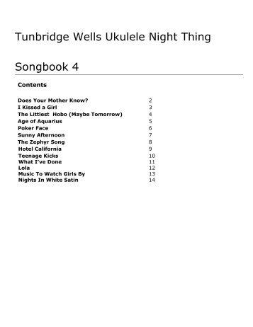 The Moseley Ukulele Group Song Book Moselele
