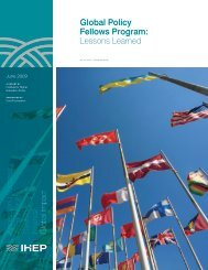 Global Policy Fellows Program: Lessons Learned - Institute for ...