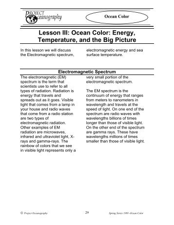 What is Ocean Color Data? - College of Marine Science